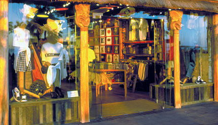 Hawaiian clothing store